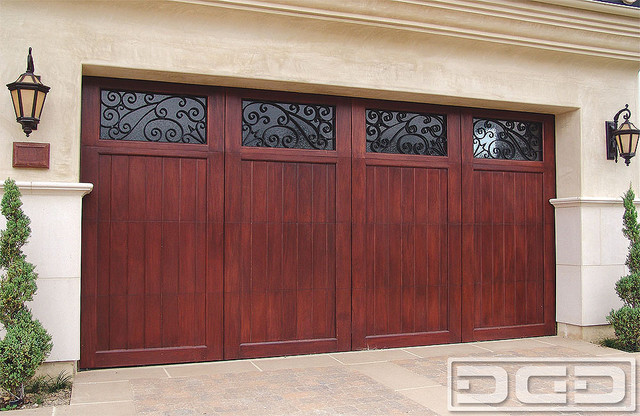 Mediterranean Revival 03 Carriage House Garage Door In