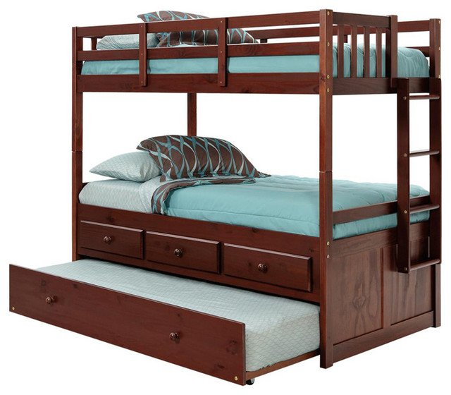 Chelsea Home Twin Over Twin Bunk Bed With Trundle And