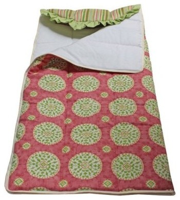 Hoohobbers Medallion Sleeping Bag - Pink modern-baby-bedding