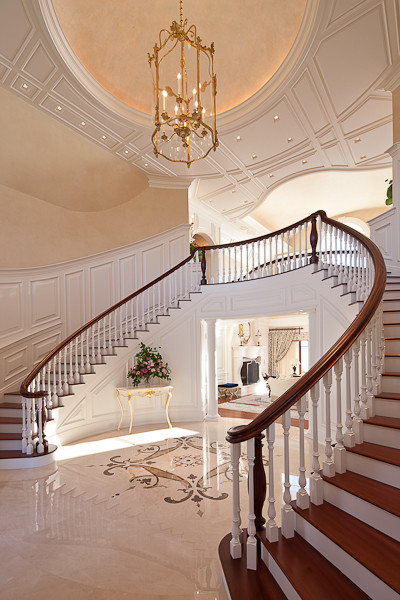 Ocean Front Estate traditional-staircase