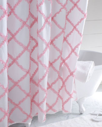 Ruffle Shower Curtain traditional-shower-curtains