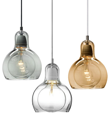 Mouth Blown Glass Modern Mini Pendant Light Contemporary