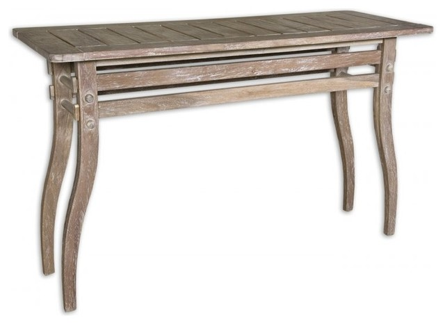 www.essentialsinside.com: selva rustic console table contemporary-side-tables-and-end-tables