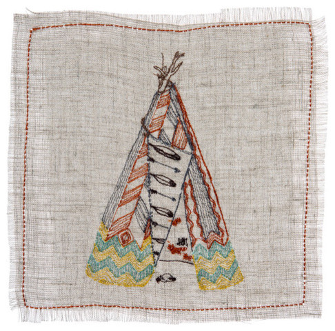 Tepee Cocktail Napkins contemporary-napkins