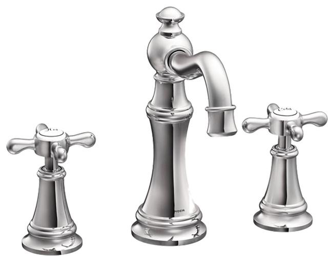 Moen TS42114 Two-Handle High Arc Bathroom Faucet transitional-bathroom-faucets