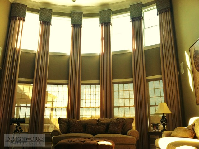 Window treatments contemporary curtains philadelphia for 2 story window treatments