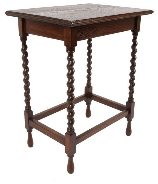 Pre Owned Antique Barley Twist Side Table Transitional Side Tables And End Tables