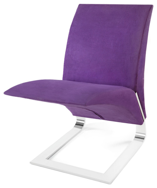purple microfiber bouncy dining chair contemporary. Black Bedroom Furniture Sets. Home Design Ideas