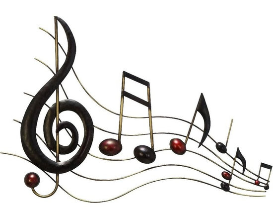 Benzara - Metal Wall Music Notes Musical Sound Bar - 64292 METAL WALL MUSIC NOTES is an excellent anytime low priced wall decor upgrade option that is high in modern age decor fashion. It is beautifully sculptured by the experienced artists.