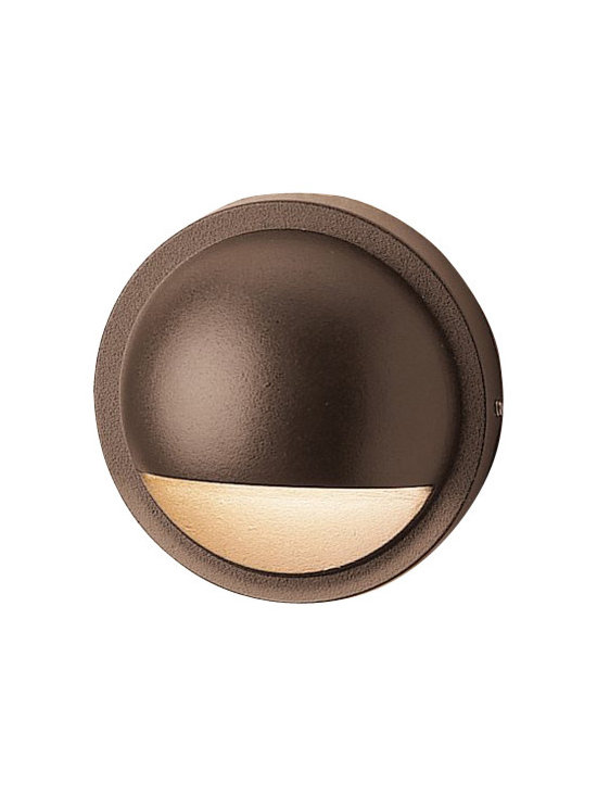 LANDSCAPE - LANDSCAPE Half Moon LED Landscape Deck Light X-TZA46751 - Clean, contemporary styling is complimented by warm finishes on this Kichler Lighting outdoor deck light. The LED light is held within a half moon shape that is finished in a Textured Architectural Bronze finish for a warm, stylish look.