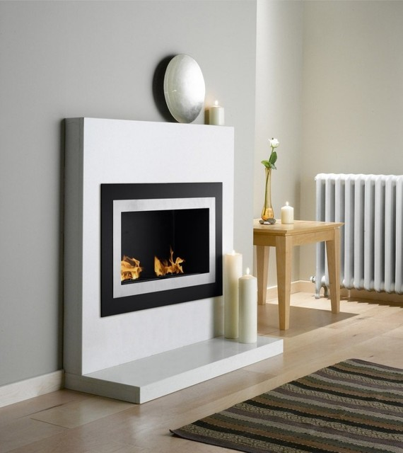 Ignis villa 36 x 22 recessed ventless ethanol fireplace for Ventless fireplace modern
