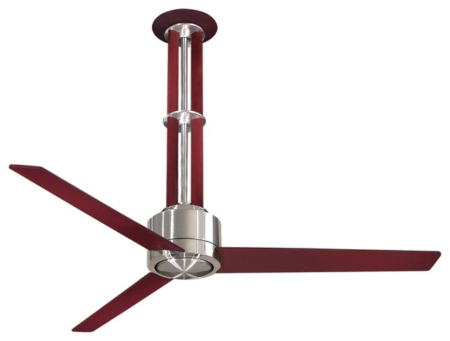 Mink Aire Flyte Ceiling Fan in Brushed Nickel with Mahogany contemporary-ceiling-fans