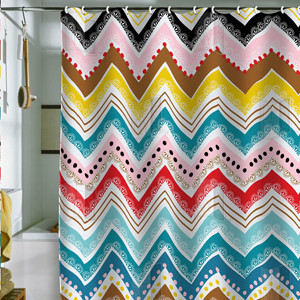 Nolita Chevrons Shower Curtain eclectic-shower-curtains