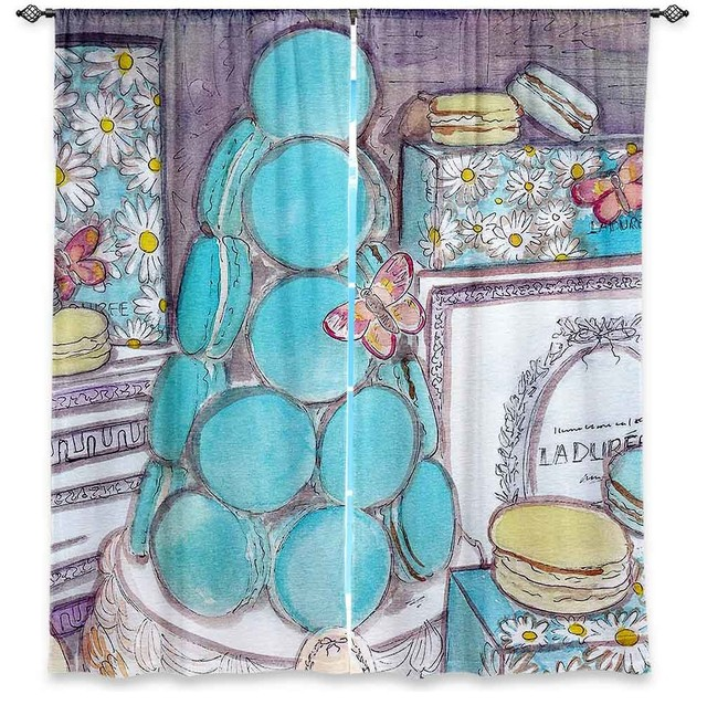 Window Curtains Lined by Diana Evans Laduree Macaroons Spring in Paris contemporary-curtains
