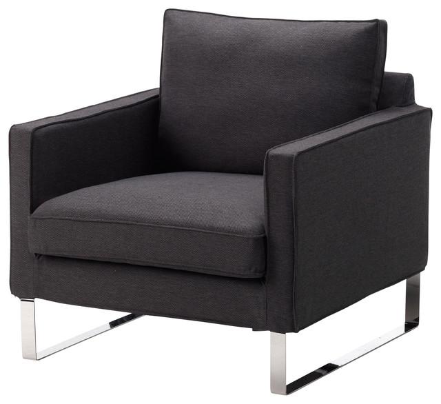 Mellby chair dansbo dark gray scandinave fauteuil et for Fauteuil scandinave ikea