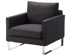 Mellby Chair, Dansbo Dark Gray modern armchairs