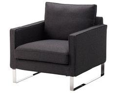 Mellby Chair, Dansbo Dark Gray modern-armchairs