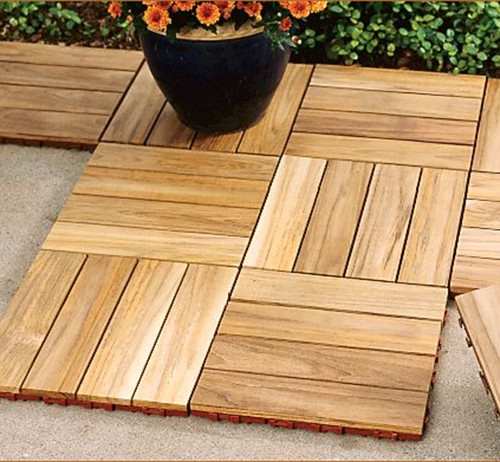 Teak Deck Tiles contemporary-outdoor-products