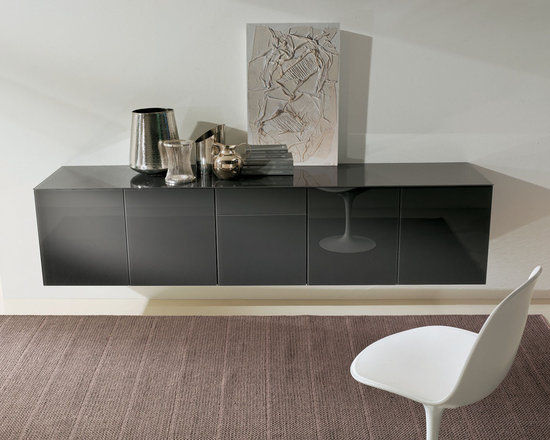Aly Glass or Wooden Storage - Aly is designer storage unit available in multiple configurations: