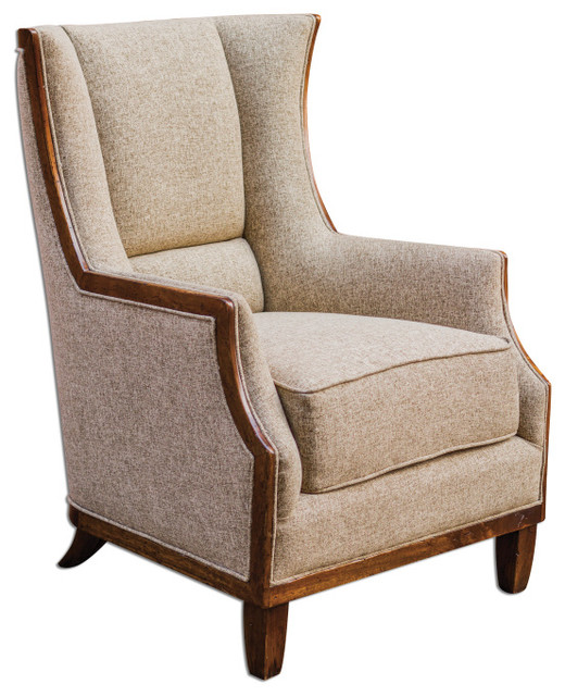 Burbank Tweed Wing Chair traditional-side-tables-and-end-tables