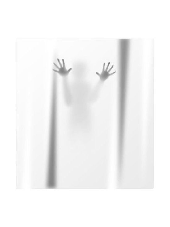 Deathly Scary Shadow Shower Curtain -