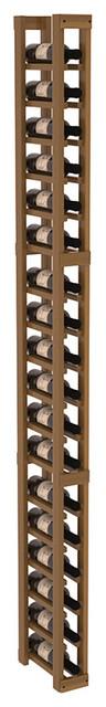 1 Column Split Bottle Wine Cellar Kit in Redwood, Oak Stain + Satin Finish contemporary-wine-racks