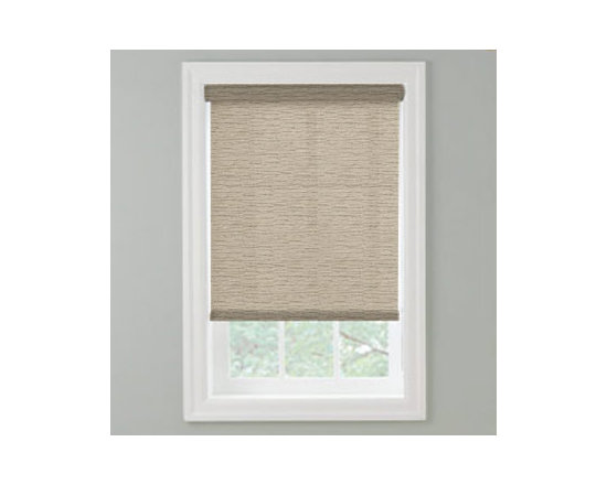 Bali - Bali Roller Shades: Mesa - Bali offers a variety of roller shades to fill your home with style, function and beauty.  The Mesa fabric collection features horizontal striations in earth tones.