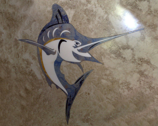 Artizan Accents - Water jet marble medallion