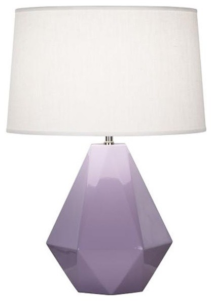 Robert Abbey Delta Table Lamp In Lilac contemporary table lamps