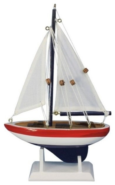 Usa sailer small wood sailboat model