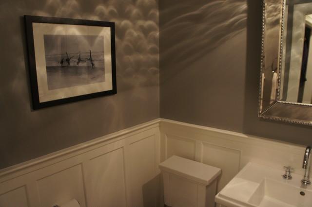 Gray Powder Room