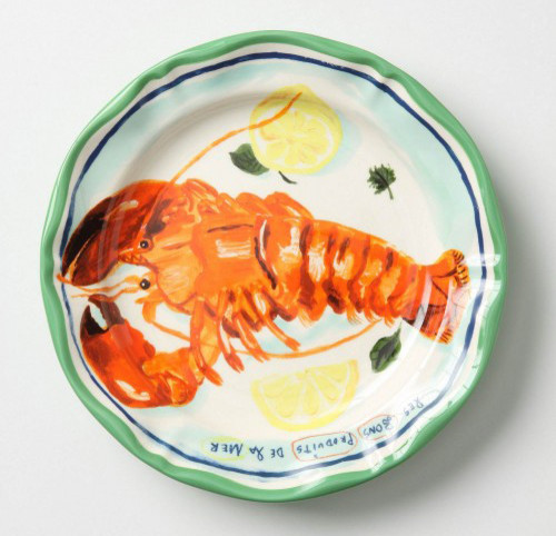 Luscious Langoustine Dinner Plate eclectic-dinner-plates