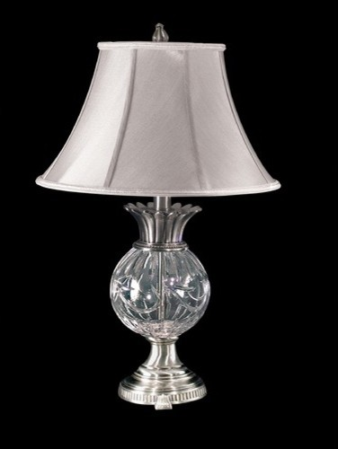 Adriana Crystal Table Lamp in Antique Pewter modern-table-lamps