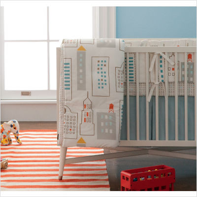 DwellStudio Skyline Crib Bedding Collection modern-baby-bedding