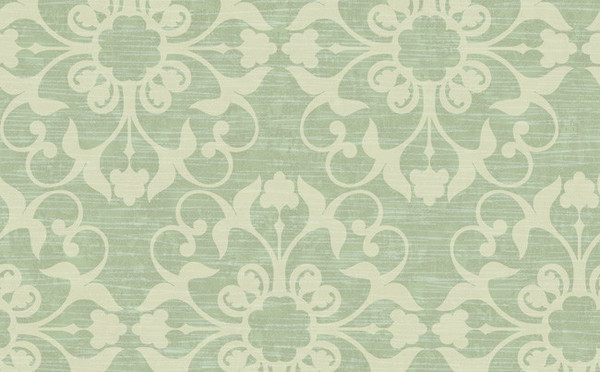 Damask texture effects wallpaper ivory and green for Kids room wallpaper texture