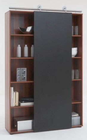 Modern Sliding Door Bookcase, Yes contemporary-bookcases