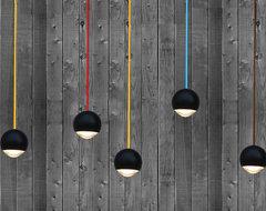 R & S Black Ball LED Pendant Lighting contemporary-pendant-lighting
