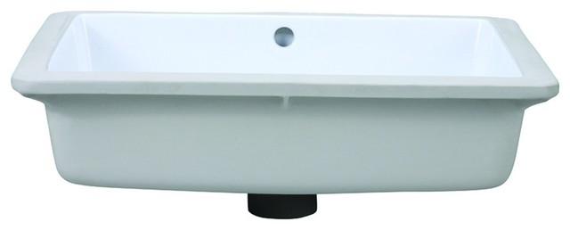 Decolav 1482-CWH Classically Redefined Rectangular Undermount Bathroom Sink in W traditional-bathroom-sinks
