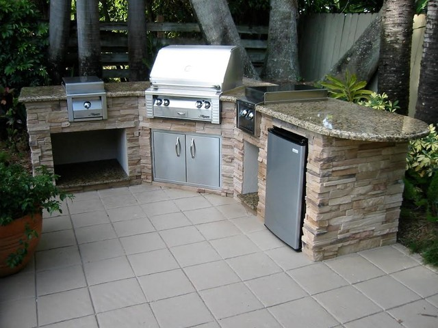 outdoor kitchen traditional miami by the bbq depot
