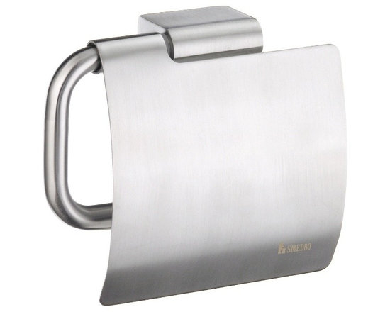 Smedbo - Spa Toilet Roll Holder w Lid (Brushed Stainless Steel) - Finish: Brushed Stainless Steel. Concealed fastening. 4.5 in. W x 0.88 in. D x 4.63 in. H