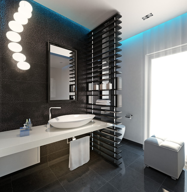 Chick Guest Toilet Contemporary Rendering Other
