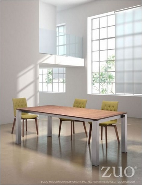Zuo Modern Copenhagen Table Walnut Contemporary Dining Sets