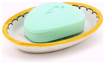 Deruta: Oval Soap Dish mediterranean-soap-dishes-and-holders