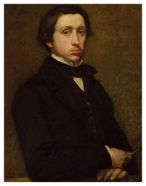 Self Portrait Canvas Art by Edgar Degas Multicolor - BL0533-C1824GG contemporary-artwork
