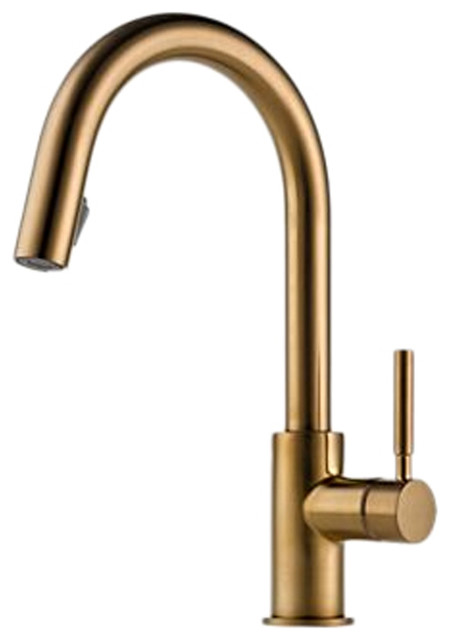brizo 63020lf bz solna brushed bronze pull down kitchen shop kohler forte vibrant brushed bronze 1 handle low arc