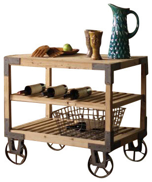 Rolling Dining Cart - Industrial - Kitchen Islands And ...
