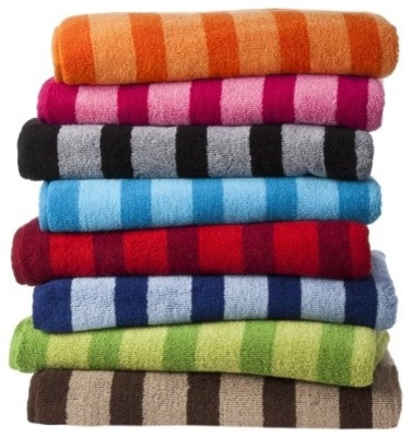 Room Essentials Fast Dry Stripe Towel Set - Modern ...
