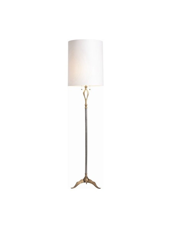 Arteriors Odelle Antique Silver/Antique Brass Floor Lamp -