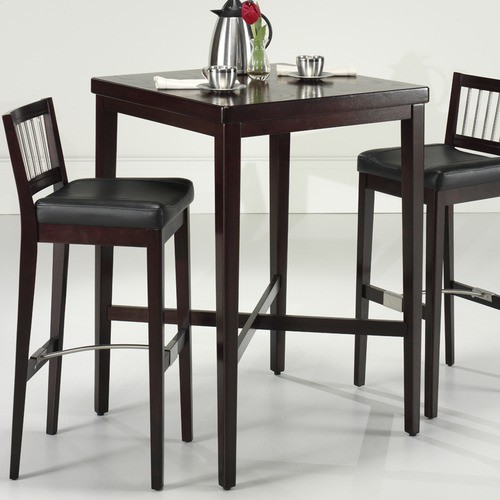 pub table in cherry modern bar tables by wayfair