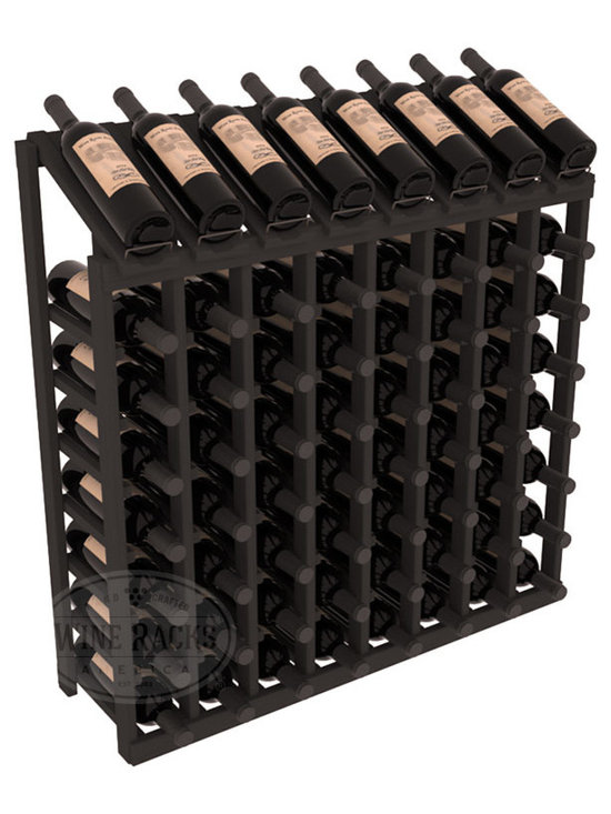 Wine Racks America - 64 Bottle Display Top Wine Rack in Pine, Black Stain - Make your best vintage the focal point of your cellar or store. Eight of the best bottles are presented at 30 degree angles. Our wine cellar kits are constructed to industry-leading standards. You'll be satisfied. We guarantee it. Display top wine racks are perfect for commercial or residential environments.